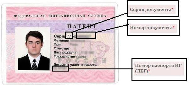 Где получать патент на работу в московской области регистрация граждан рф в муниципальное жилье