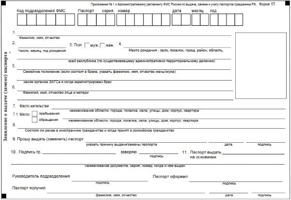 Документы на замену паспорта по возрасту