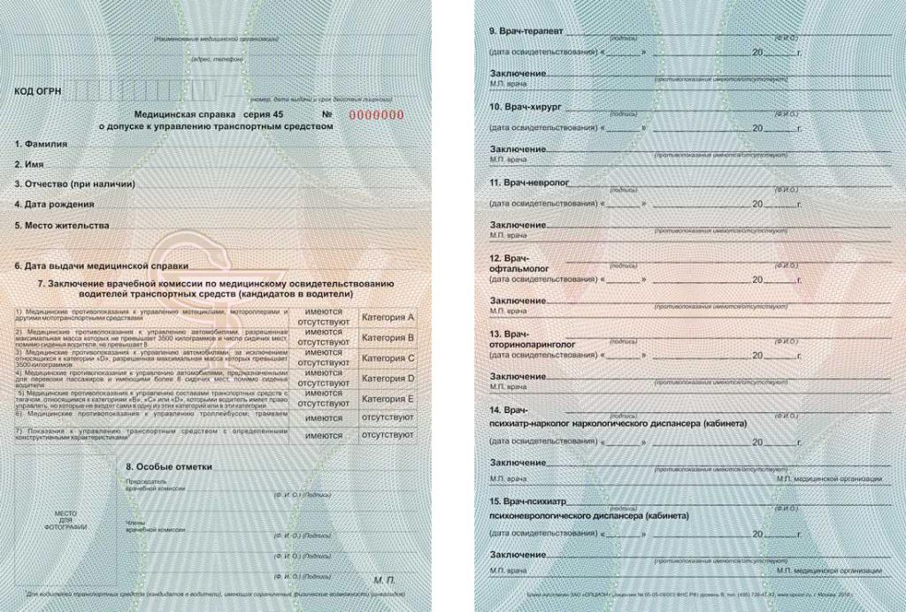 Нужна ли медицинская справка для прав при смене фамилии медицинская справка для гибдд 083 у пермь