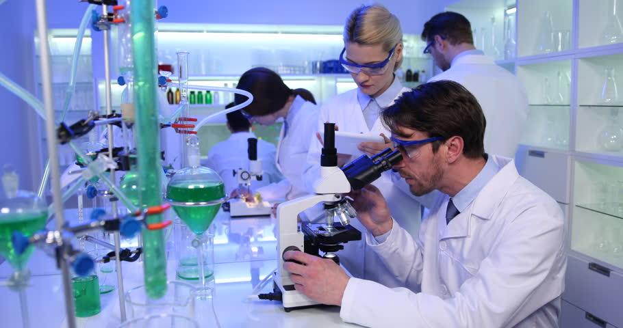 Работа в биологической лаборатории