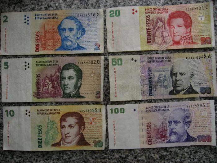 Валюта Аргентины: номиналы и описание