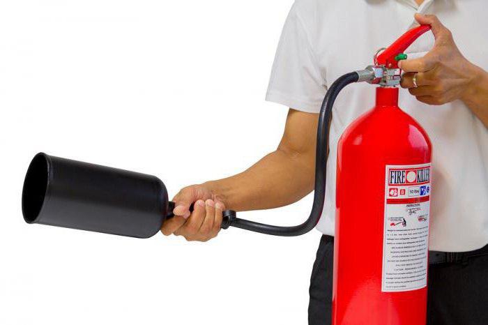 Правила пользования углекислотным огнетушителем. Устройство и принцип работы углекислотного огнетушителя