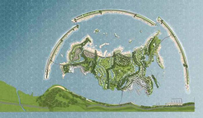 Самые большие искусственные острова: описание и фото
