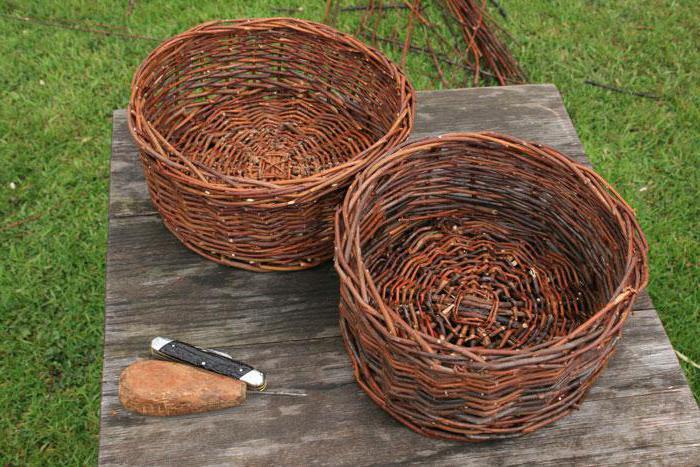 плетение корзины из ивы своими руками