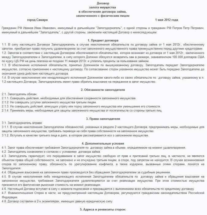 Договор отделочных работ между физическими лицами
