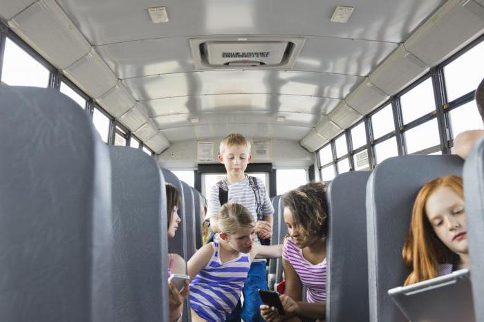 Правила перевозки детей школьным автобусом