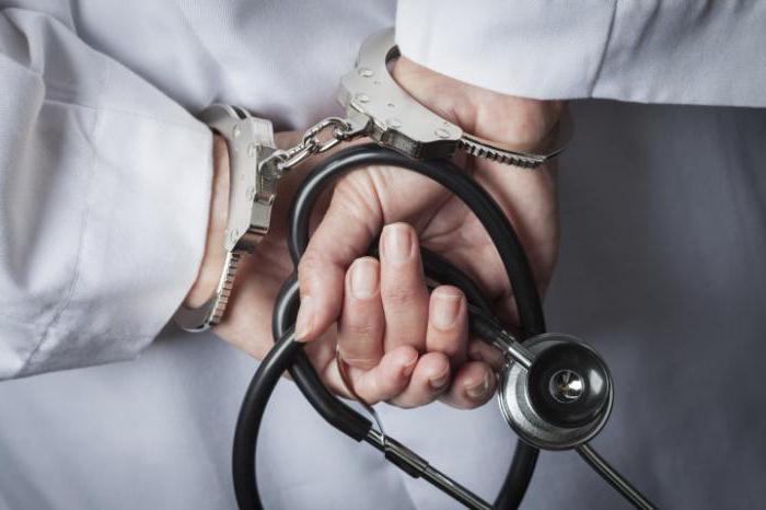 Халатность врачей: статья УК РФ, наказание