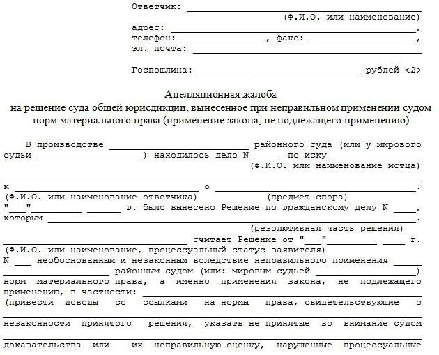 Что такое апелляционная жалоба по ГПК РФ