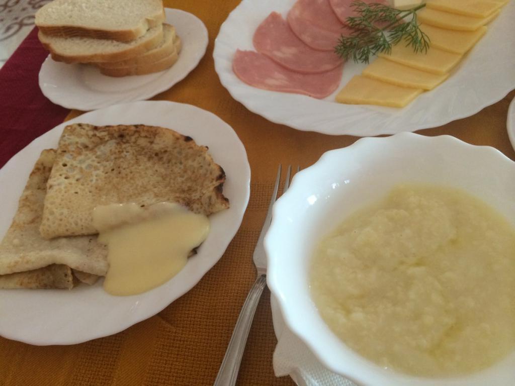 Пример школьного завтрака