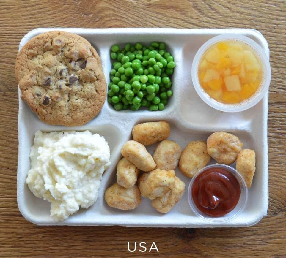 Школьный завтрак в США