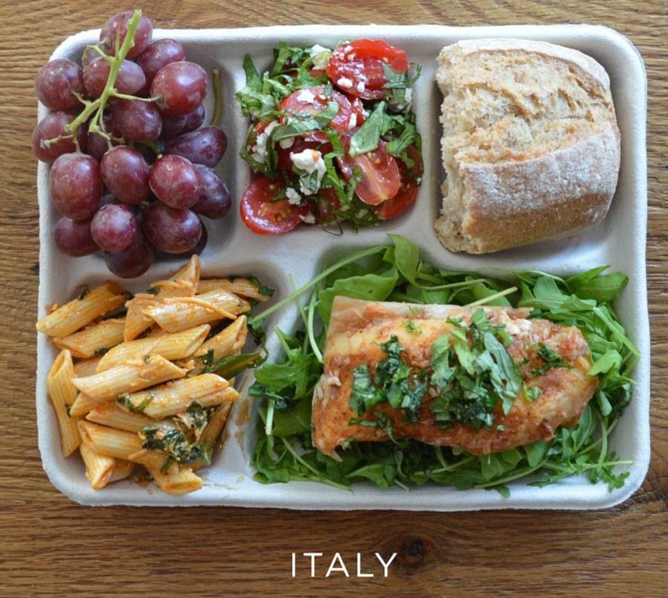 Школьный завтрак в Италии