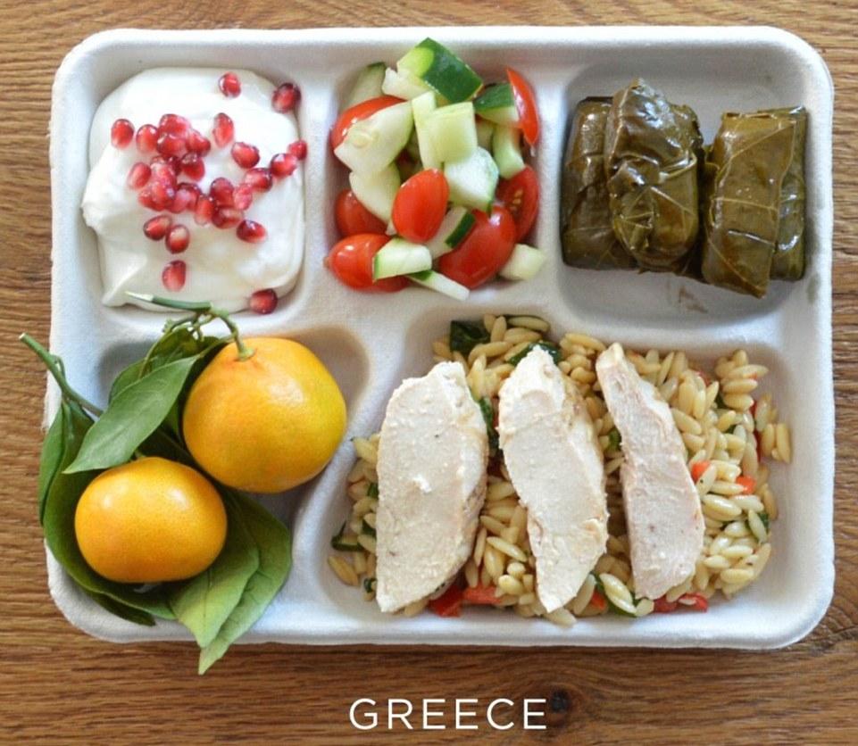 Школьный завтрак в Греции
