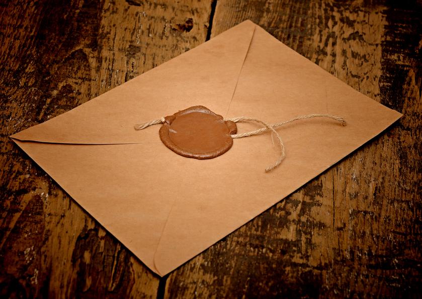 Заявка в запечатанном конверте