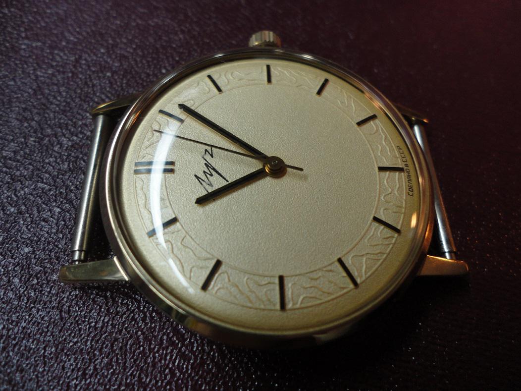 Советские позолоченные часы