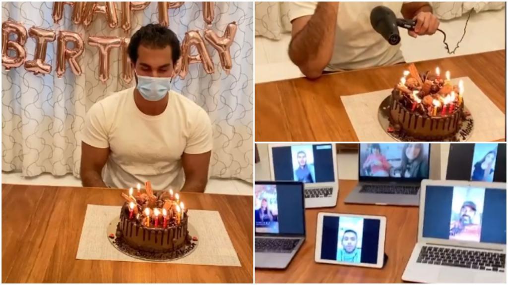 Как задуть свечу на торте, если маска мешает? У парня день рождения, и у  него есть простой и веселый ответ