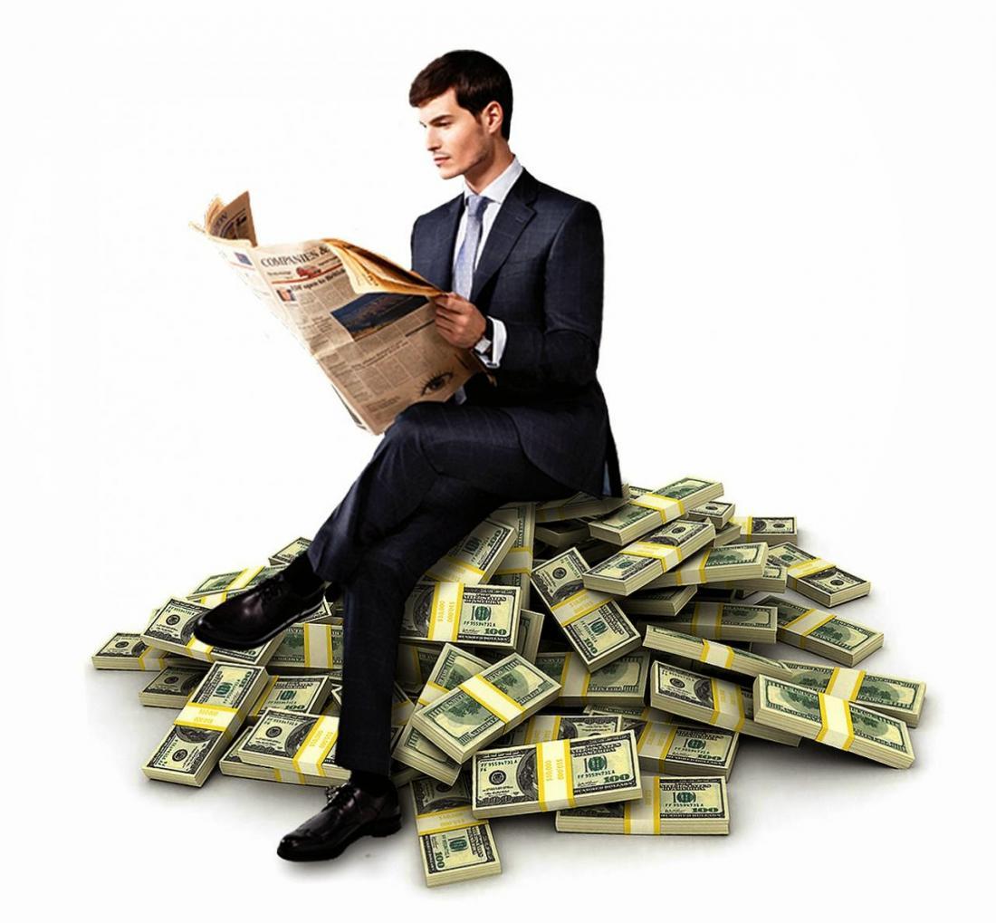 картинка бизнесмена и денег считают