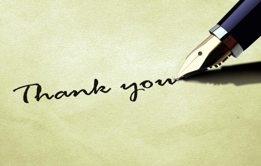 Образец благодарственного письма об окончании за сотрудничество