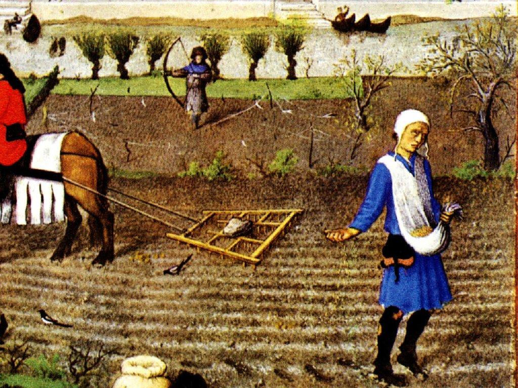 картинки крестьян средневековья небо ясное, так